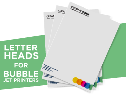 Letterheads for Bubble Jet Printers